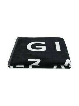 Givenchy Kids rectangular logo towel - Blue