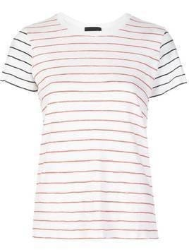 Atm Anthony Thomas Melillo contrast colour striped T-shirt - White