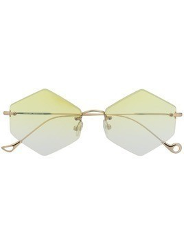Eyepetizer geometric sunglasses - Gold