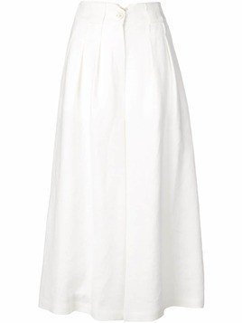 Dusan high-waisted palazzo trousers - White