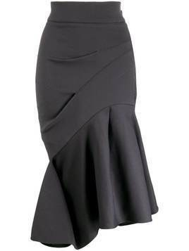 Maticevski ruffled asymmetric hem skirt - Blue
