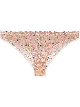 Gilda & Pearl floral lace knickers - Pink