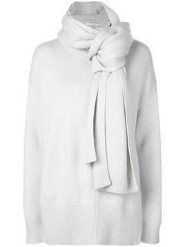 Co oversized scarf-detail jumper - White