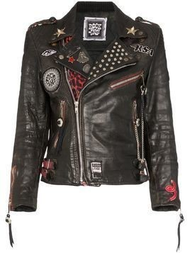 Rockins custom detail biker jacket - Black