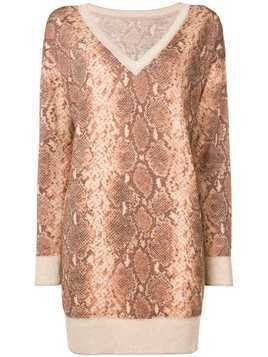 Twin-Set snakeskin effect jumper - Brown
