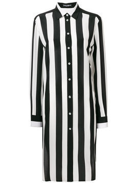 Dolce & Gabbana striped longline shirt - Black