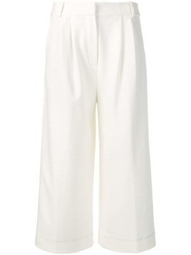 Tibi cropped wide-leg trouser - White