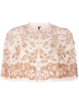 Needle & Thread sequinned bolero jacket - Neutrals