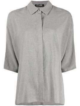 Styland concealed button shirt - Grey