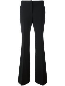 Burberry pleated slim fit flared trousers - Black