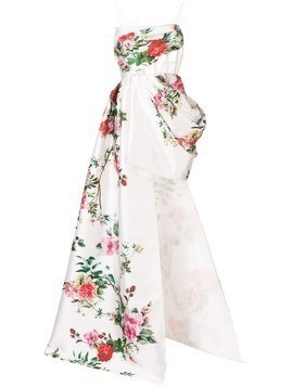 Alex Perry Reid floral dress - White