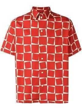 Levi's Vintage Clothing Levi's Strauss Sportswear of California Atomic square print shirt - Red