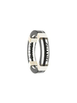 Chanel Vintage logo stamped bangle - White