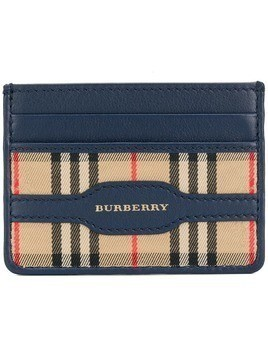 Burberry checked cardholder - Blue