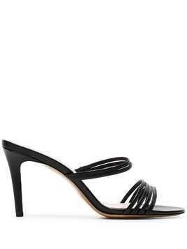 Kalda black Simon 85 strappy leather sandals