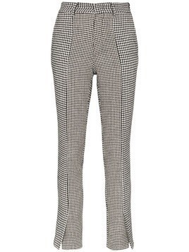 Blindness houndstooth print trousers - Black