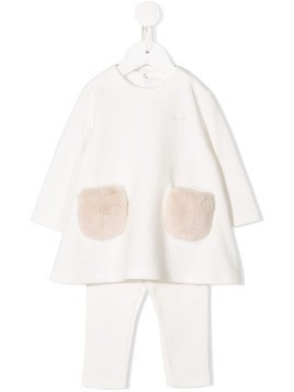 Il Gufo fur pocket tracksuit - White