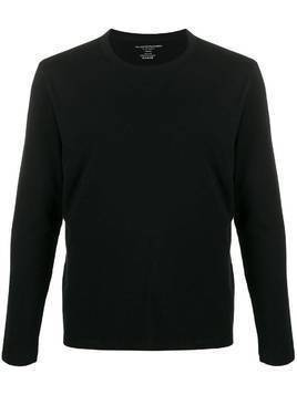 Majestic Filatures long sleeved cotton T-shirt - Black
