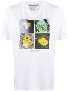 Stella McCartney Faces in Places oversize T-shirt - White