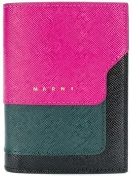 Marni saffiano leather bi-fold wallet - Pink & Purple