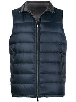 Herno classic padded gilet - Blue