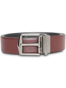 Burberry Reversible London Leather Belt - Red