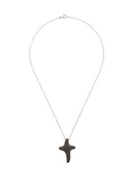 Gavello 18kt white gold diamond cross necklace - Metallic