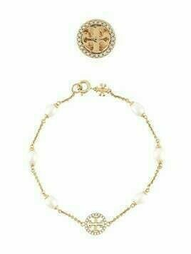 Tory Burch crystal pearl jewellery set - GOLD