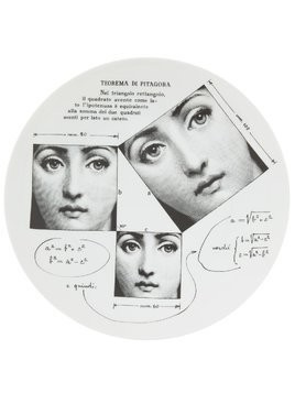 Fornasetti printed china plate - White