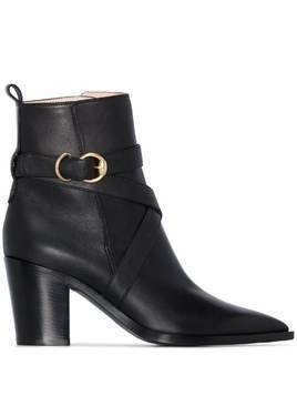 Gianvito Rossi western-style 70mm ankle boots - Black