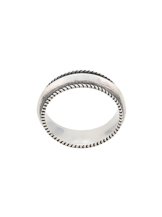 Ugo Cacciatori engraved band ring - Silver