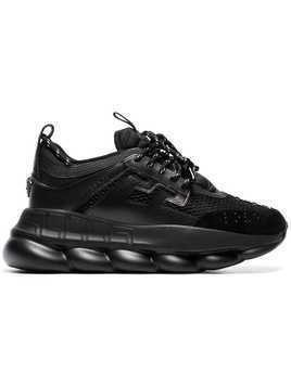 Versace black Chain Reaction chunky faux leather sneakers