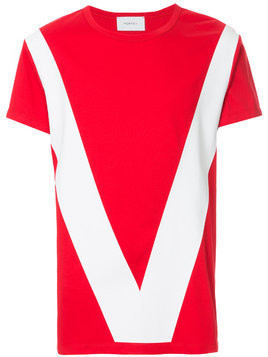 Ports V colour-block T-shirt - Red