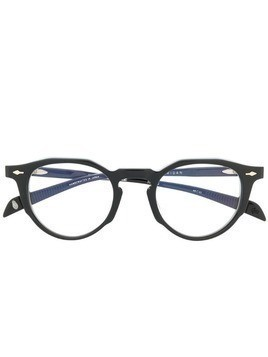 Jacques Marie Mage round frame glasses - Black