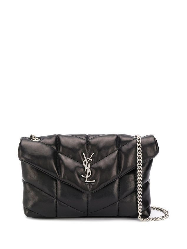 Saint Laurent Loulou Puffer shoulder bag - Black