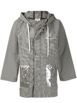 Duo Duo hooded windbreaker jacket - Grey