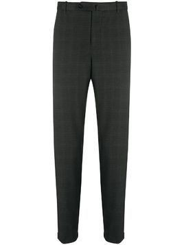 Incotex tartan twill suit trousers - Black