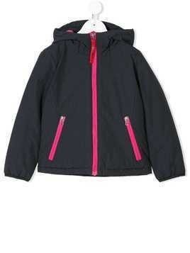Freedomday Junior contrast trim hooded jacket - Black