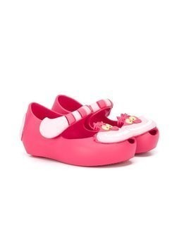 Mini Melissa Cheshire Cat ballerinas - Pink & Purple
