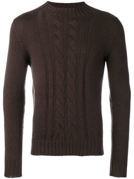 Tagliatore cable knit sweater - Brown