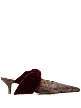 Gia Couture kitten heel pumps - Brown