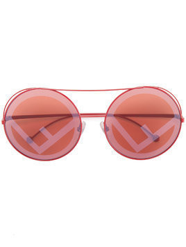 Fendi Eyewear red Run Away sunglasses