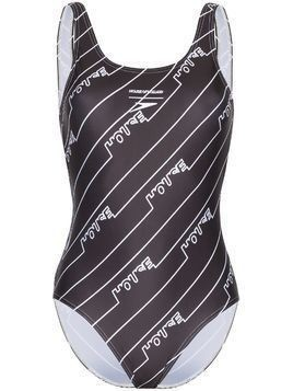 House of Holland Logo print swimsuit - Black