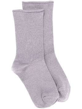 Brunello Cucinelli metallic-effect socks - PURPLE