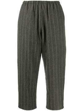 Apuntob stripe weave slacks - Grey