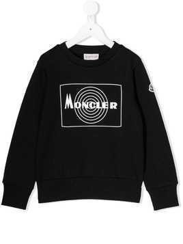 Moncler Kids branded sweatshirt - Black