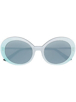 Christian Roth large round frame sunlasses - Metallic