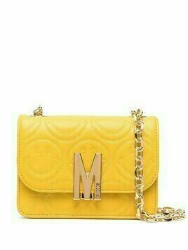 Moschino smiley-quilted M shoulder bag - Yellow