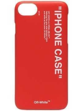 Off-White Red Quote Print iPhone 8 PVC Phone Case