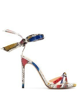 Alexandre Birman colour-block heel sandals - Red